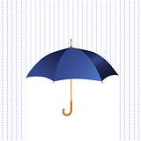 Umbrella icon with rain.
