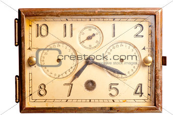 old rusty clock of the last century