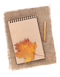 Brown paper notepad