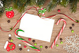 Blank christmas greeting card