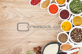 Various spices selection