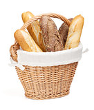 Various of french baguette basket