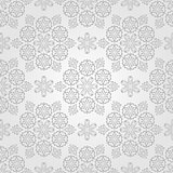 Vector Seamless Christmas Pattern with Snowflakes