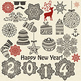 Vector Christmas  and New Year Design Elements