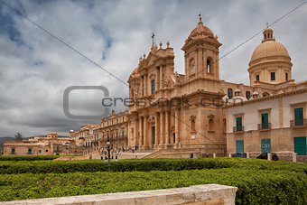 Cathedral in old town Noto, Sicily, Italy