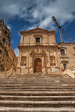 Ruins of baroque style cathedral in Noto
