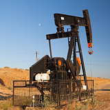 Oil pump in Nevada desert