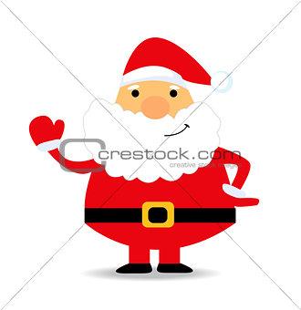 Santa Claus. Vector illustration for retro card