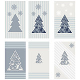 Set Christmas tree snowflakes