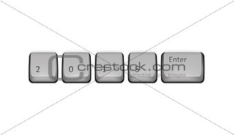 2015 on keyboard and enter key.