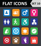 Universal Colorful Flat Icons. Set 10.