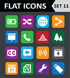 Universal Colorful Flat Icons. Set 11.