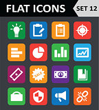 Universal Colorful Flat Icons. Set 12.
