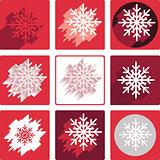 flat snowflakes