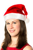 Portrait Smiling Santa Woman