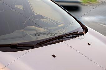 Grey car front