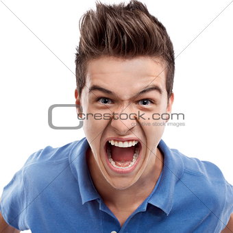 Angry man shouting