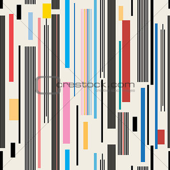 abstract geometric pattern of stripes