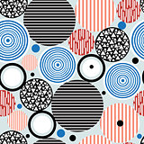 abstract geometric pattern of circles