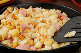 Diced ham and potatoes