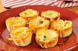 Mini quiche with bacon bits