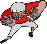 American Football Player Charging