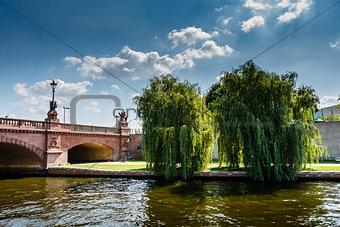 Moltke Bridge Over the Spree River in Berlin, Germany