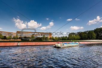 A Boat Trip in the Spree River, Berlin, Germany