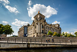 View of the Reichstag from the River Spree, Berlin, Germany