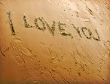Love Sand Writing