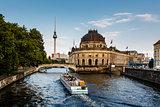 River Boat Approacing Museum Island, Berlin, Germany