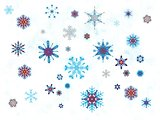 White background with snowflakes
