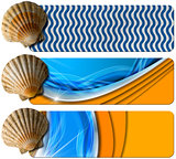 Three Sea Holiday Banners - N6