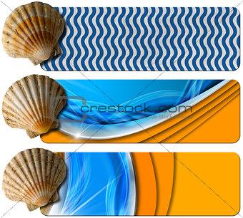Three Sea Holiday Banners - N6
