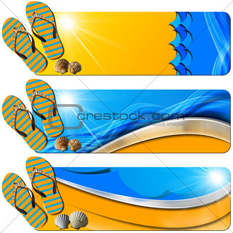 Three Sea Holiday Banners - N7