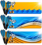 Three Sea Holiday Banners - N8