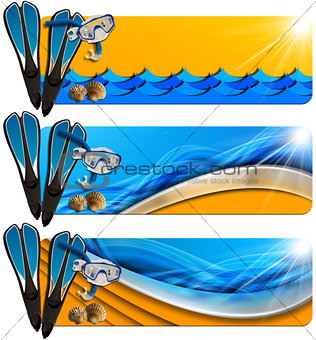 Three Sea Holiday Banners - N8