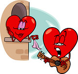 heart love song cartoon illustration