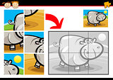 cartoon hippo jigsaw puzzle game