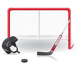 hockey set vector illustration