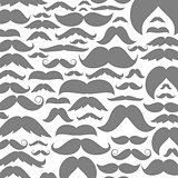 Moustaches a background