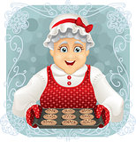Granny Baked Some Cookies - Vector Illustration