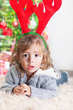 Little boy on Christmas celebration
