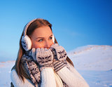 Woman in winter vacation