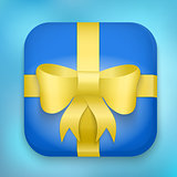 Gift Icon with bow and strip.