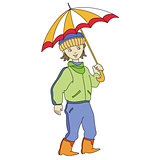boy with umbrella
