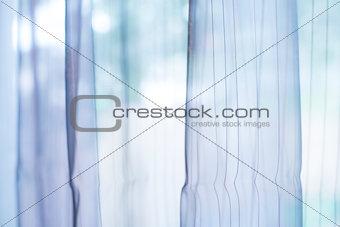 Transparent curtain on window