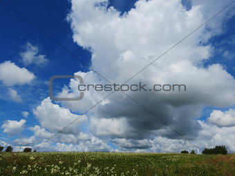 Sky and steppe