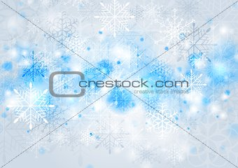 Bright blue vector Christmas background