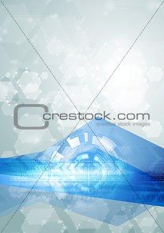 Bright abstract hi-tech vector illustration
